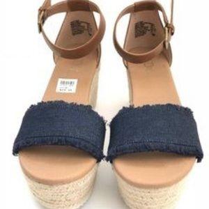 0602e10d76a Brash Tessa denim platform wedge sandal 8M USA